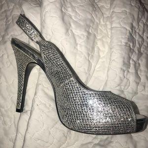 Lulu Townsend Silver Pump Heels